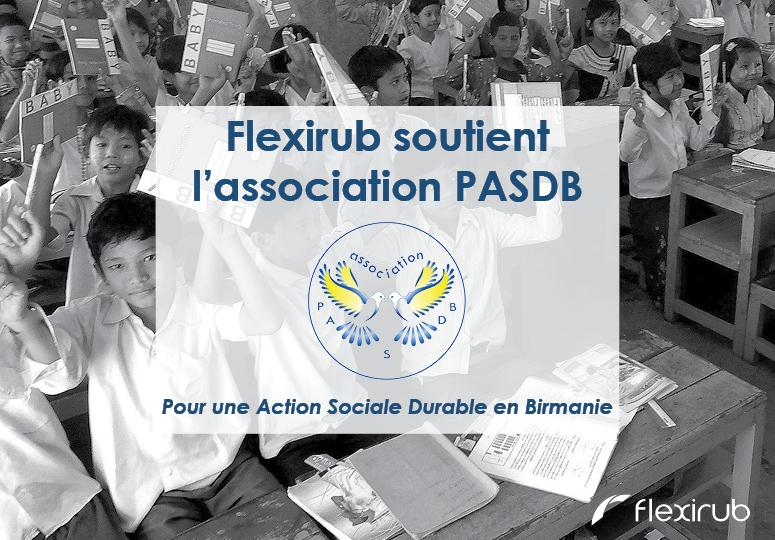 Flexirub soutient l'association humanitaire PASDB