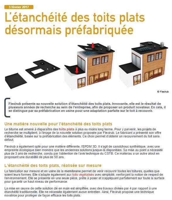 avis technique ccfat tanch it epdm de toiture plate flexirub. Black Bedroom Furniture Sets. Home Design Ideas