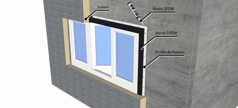 etanch it mur et tanch it fa ade avec bande epdm flexirub. Black Bedroom Furniture Sets. Home Design Ideas